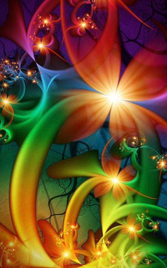 fractal art flowers 3