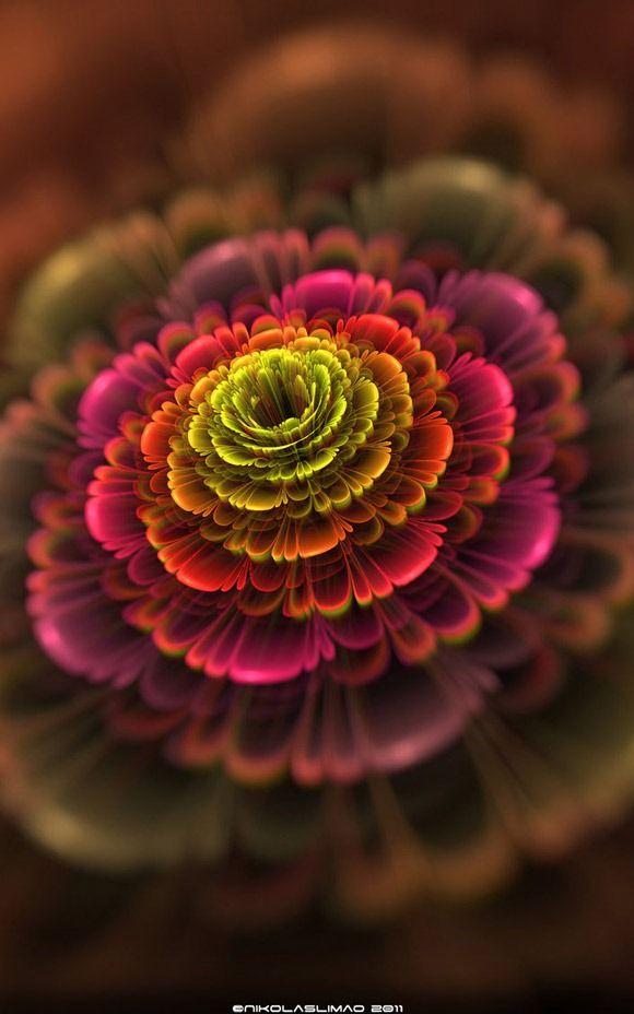 fractal art flowers 7