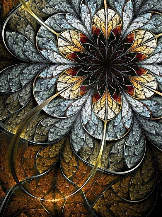 fractal art flowers 9
