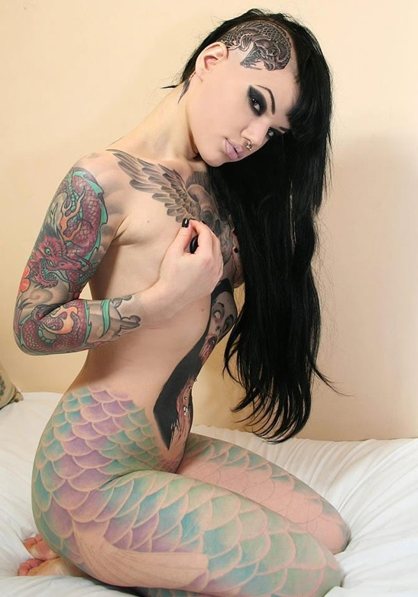 Mermaid Scales Tattoo Designs For Girls (21)