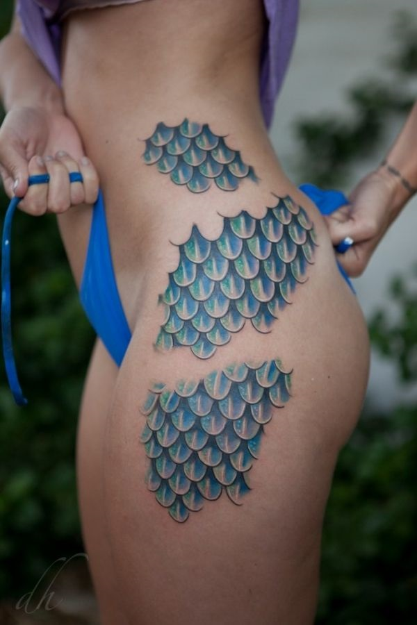 Mermaid Scales Tattoo Designs For Girls (34)
