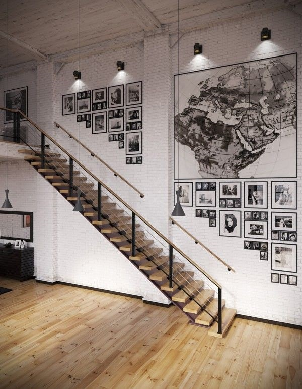 Must Try Stair Wall Decoration Ideas (35)