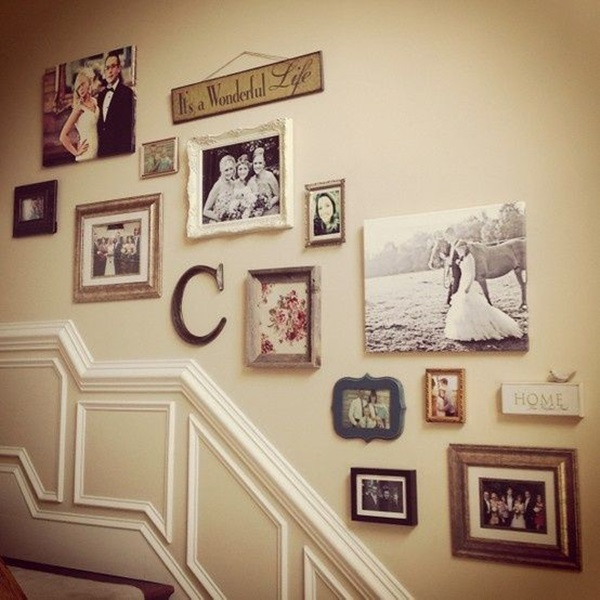 Must try stair wall decoration ideas 40