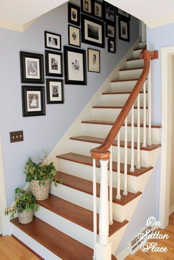Superior Must Try Stair Wall Decoration Ideas (48)