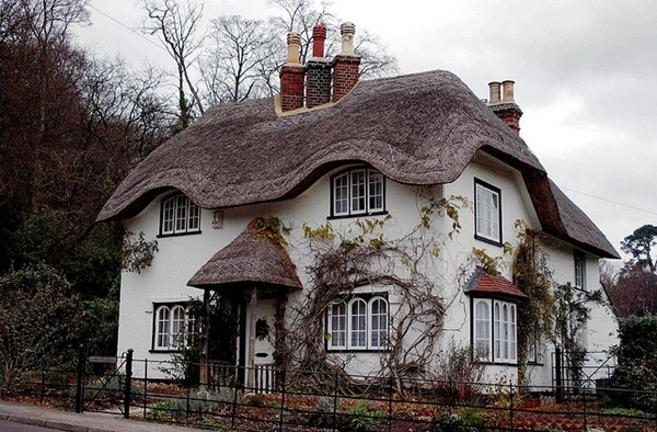 Beautiful thatch roof Cottage House Designs (14)