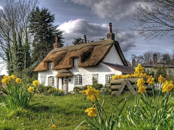 Beautiful thatch roof Cottage House Designs (22)