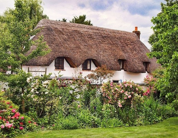 Beautiful thatch roof Cottage House Designs (25)