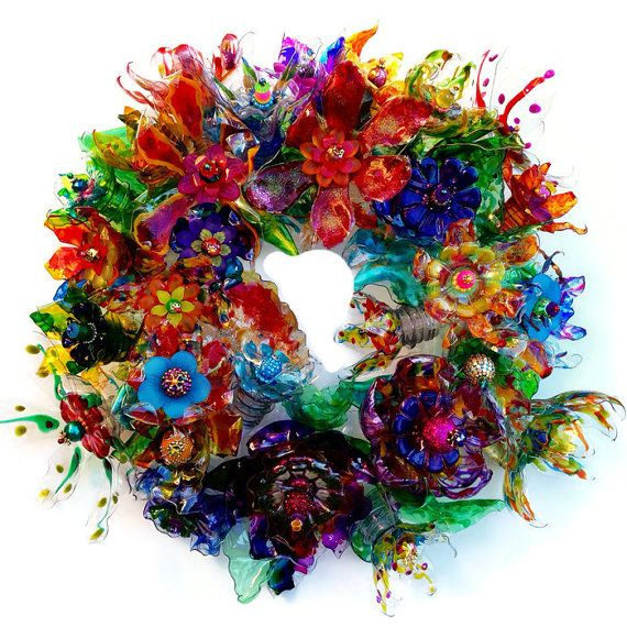 plastic flower art 10