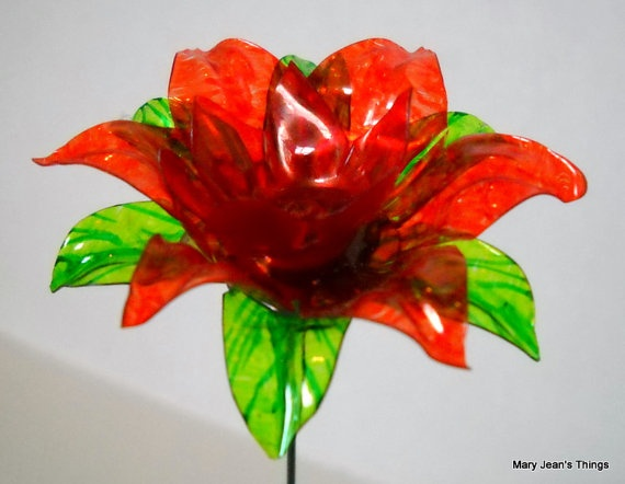 plastic flower art 14