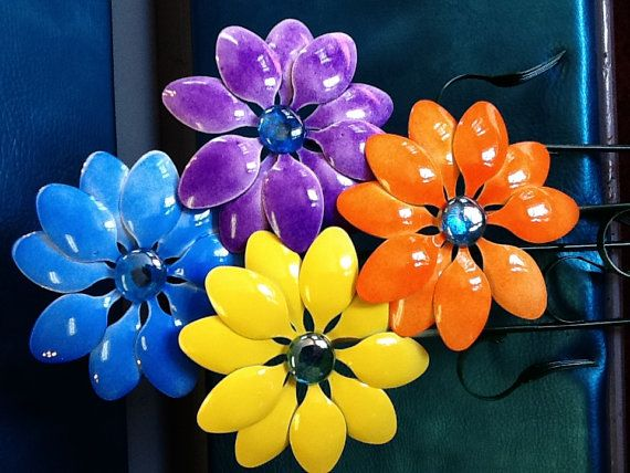 plastic flower art 15