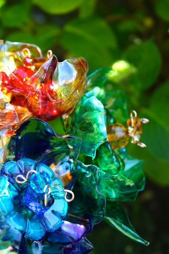 plastic flower art 16