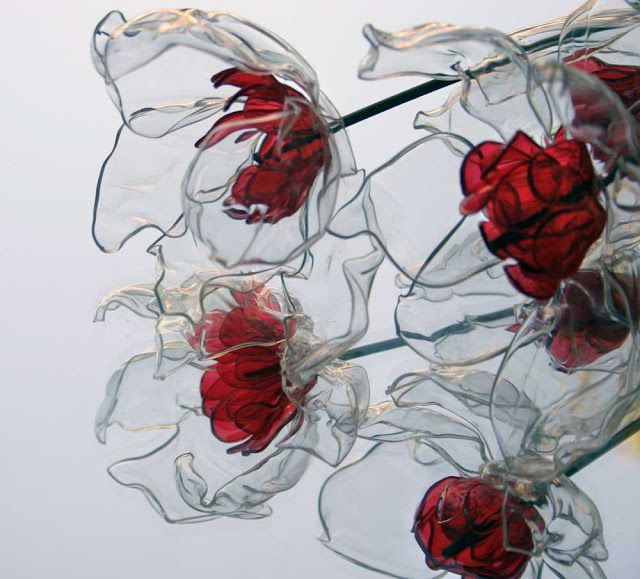 plastic flower art 4
