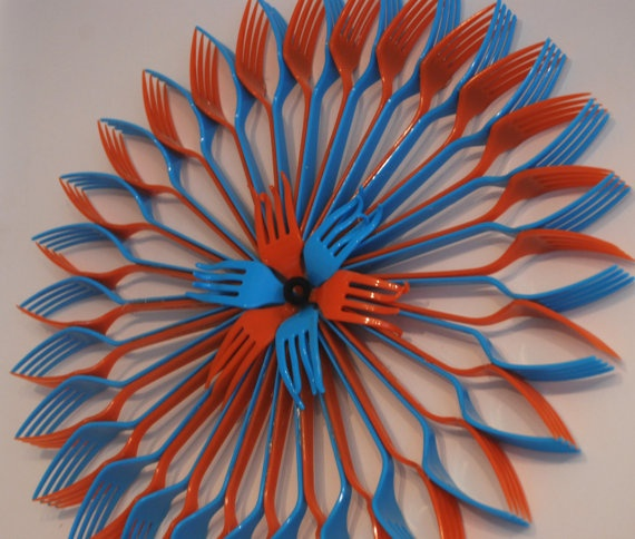 plastic flower art 5
