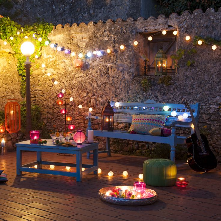 terrace lighting ideas 23