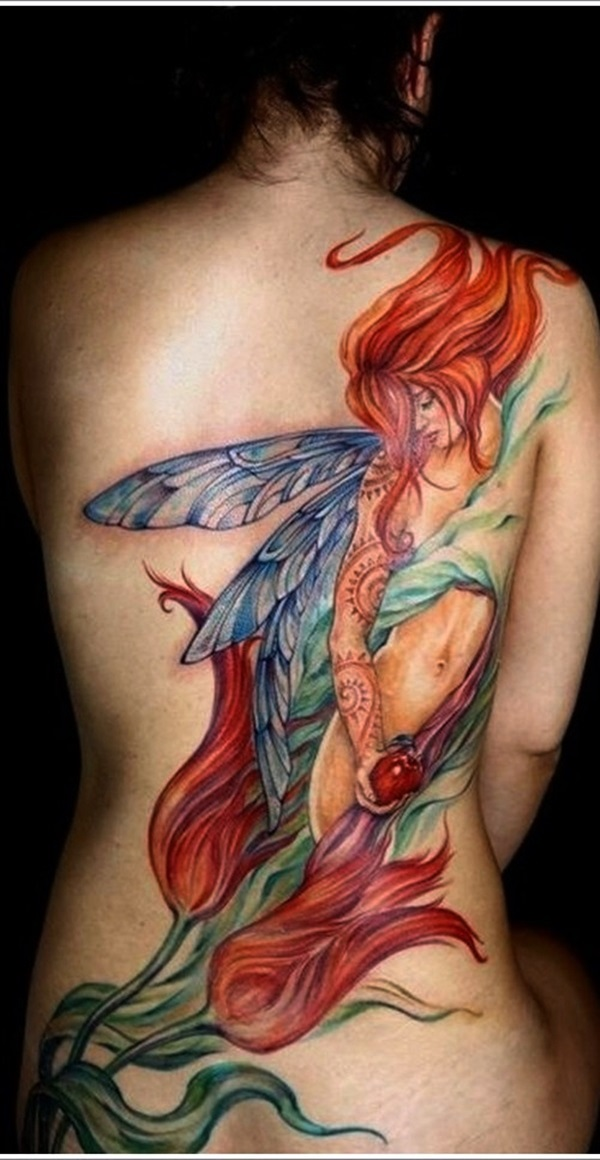 Adorable Fairy Tattoo Designs (30)