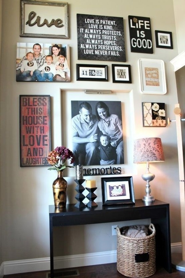 Best Family Picture Wall Decoration Ideas (12)