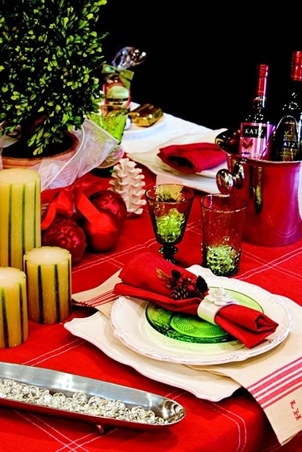 christmas table decoration ideas (15)