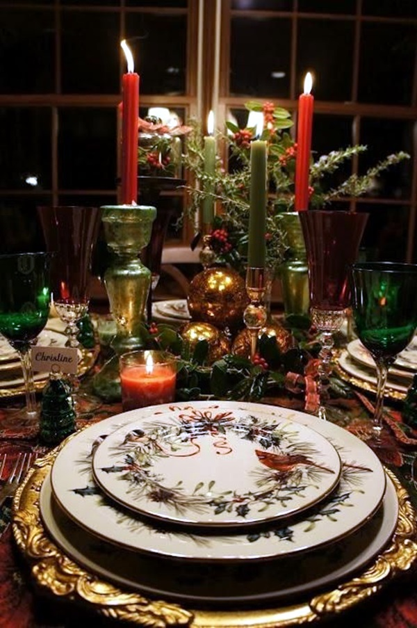 christmas table decoration ideas (23)