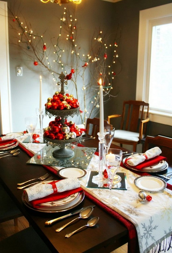 Luxurious Christmas Table Decorations Ideas Uk