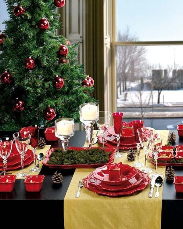 christmas table decoration ideas (6)