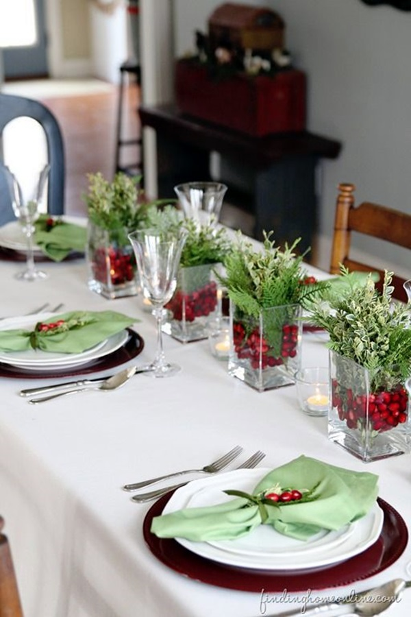 christmas table decoration ideas (9)