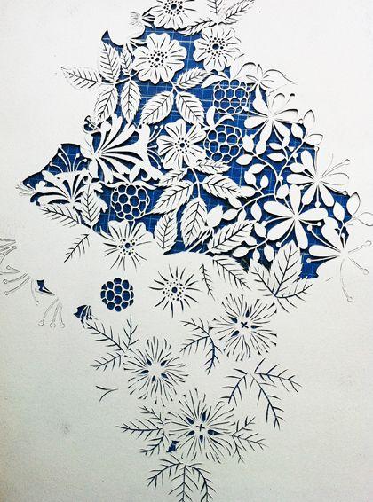 handcut paper art 14