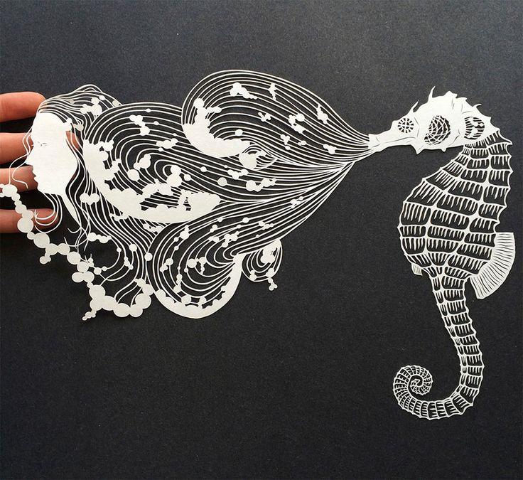 handcut paper art 21