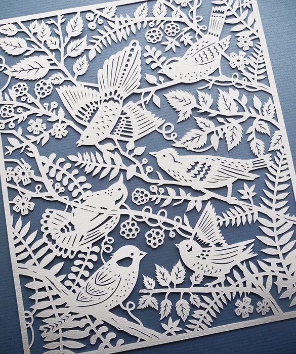 handcut paper art 3