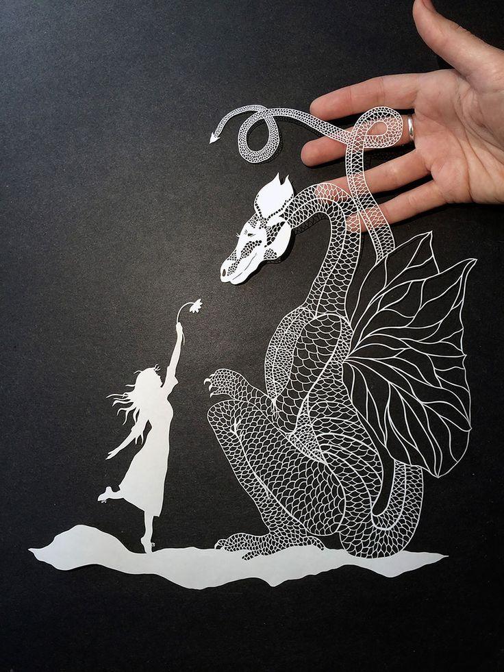 handcut paper art 7
