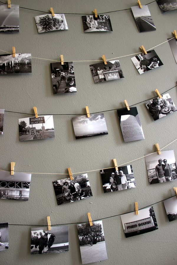 Unique wall photo display Ideas For You (11)