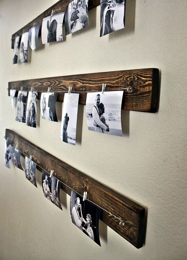 Unique wall photo display Ideas For You (13)