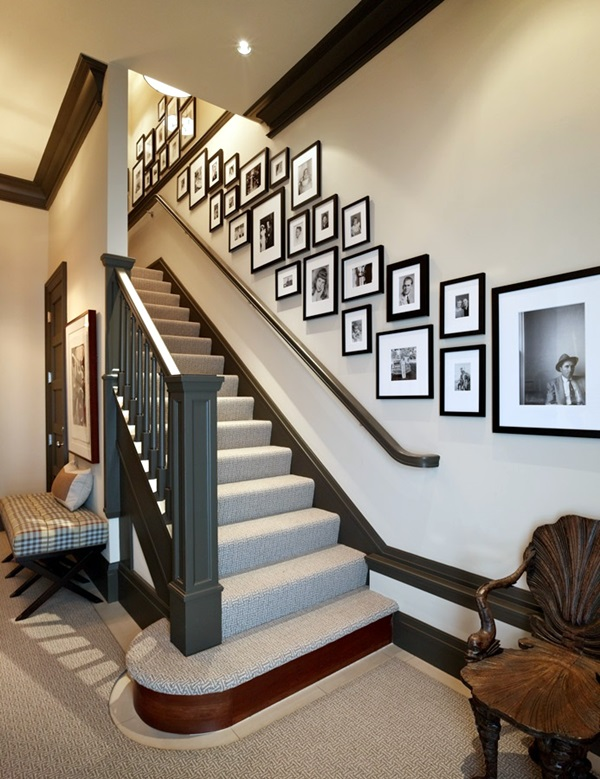 Unique wall photo display Ideas For You (14)