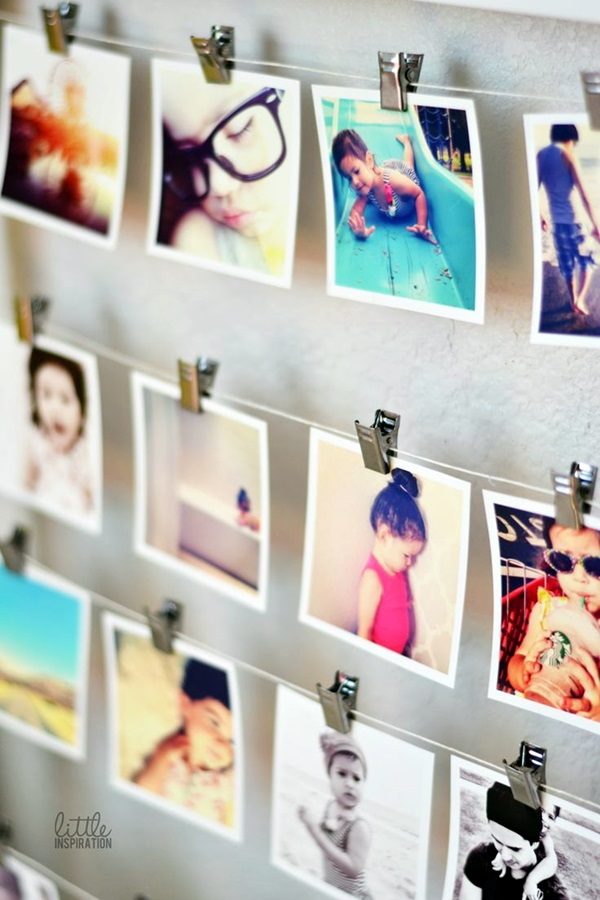 Unique wall photo display Ideas For You (16)