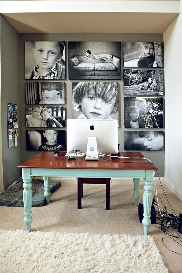 Unique wall photo display Ideas For You (17)
