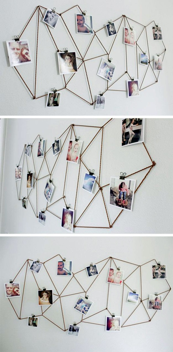 Unique wall photo display Ideas For You (22)