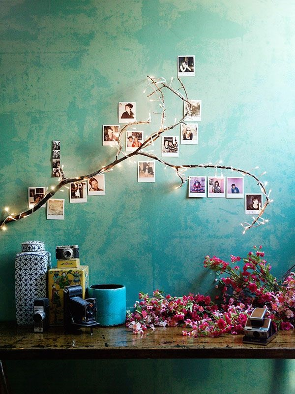 Unique wall photo display Ideas For You (23)