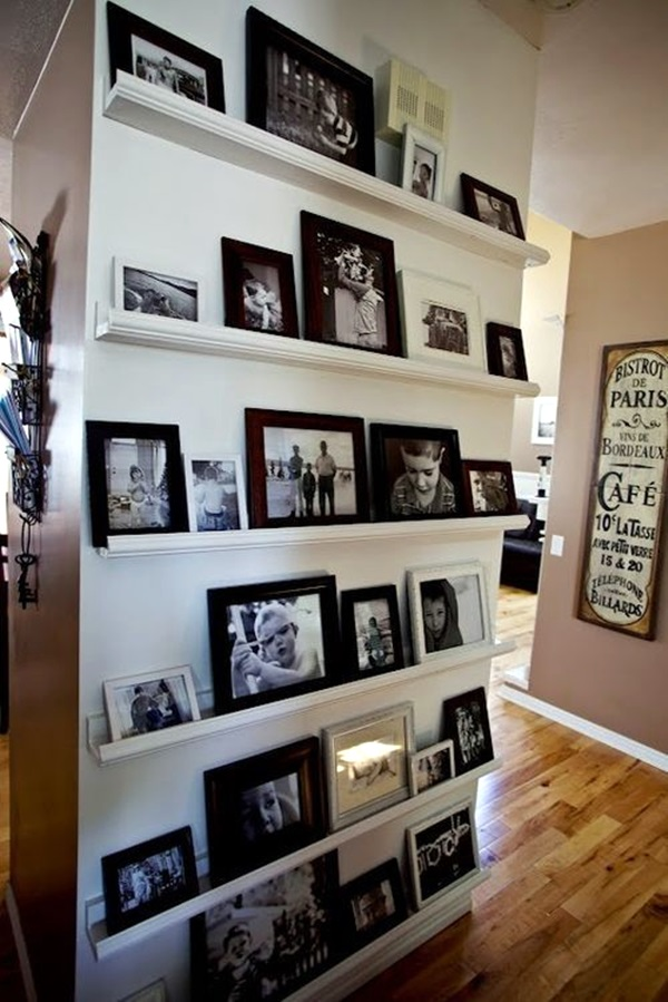 Unique wall photo display Ideas For You (27)