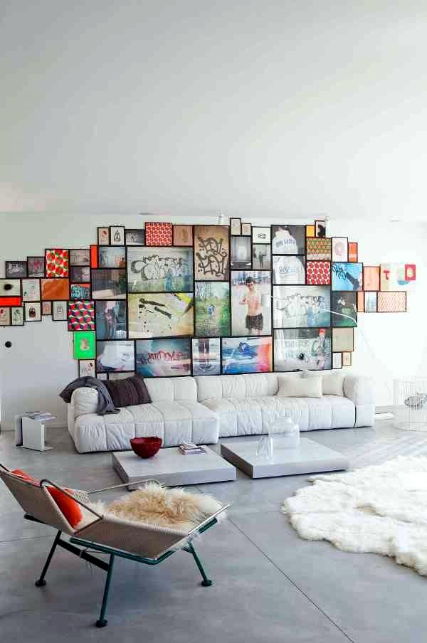 Unique wall photo display Ideas For You (28)