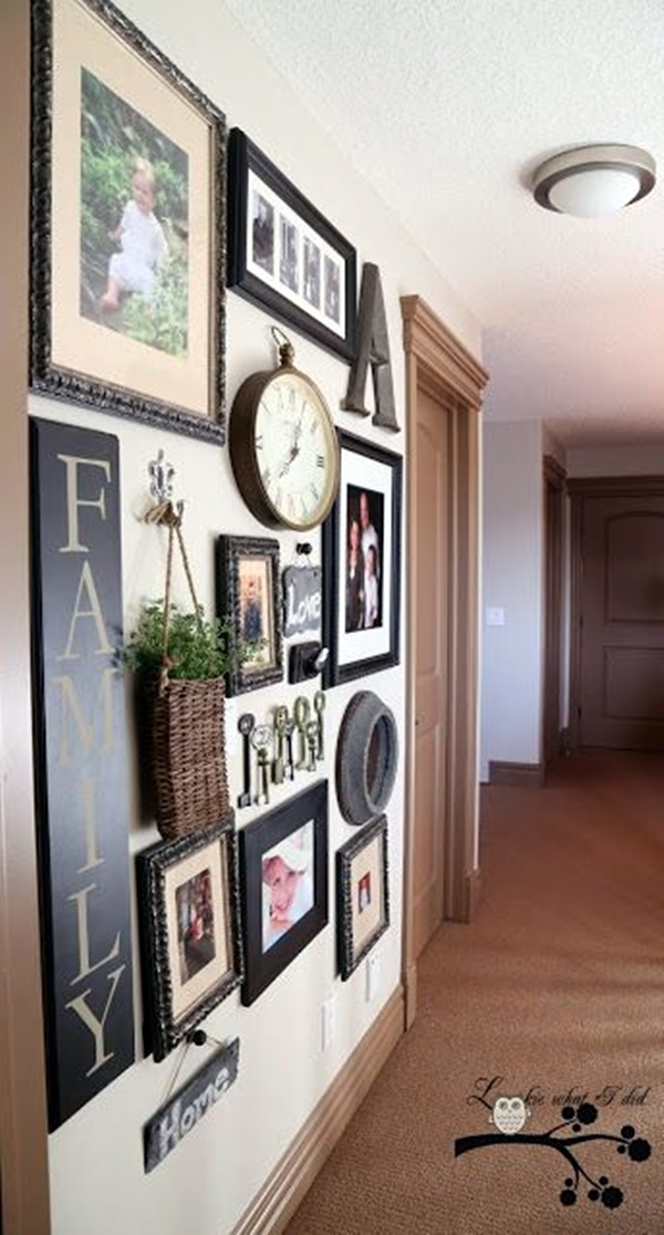 Unique wall photo display Ideas For You (33)