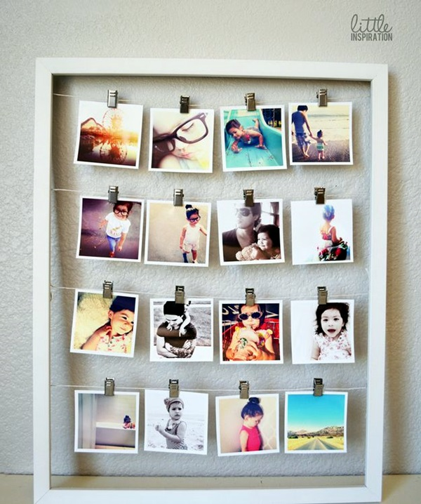 Unique wall photo display Ideas For You (34)