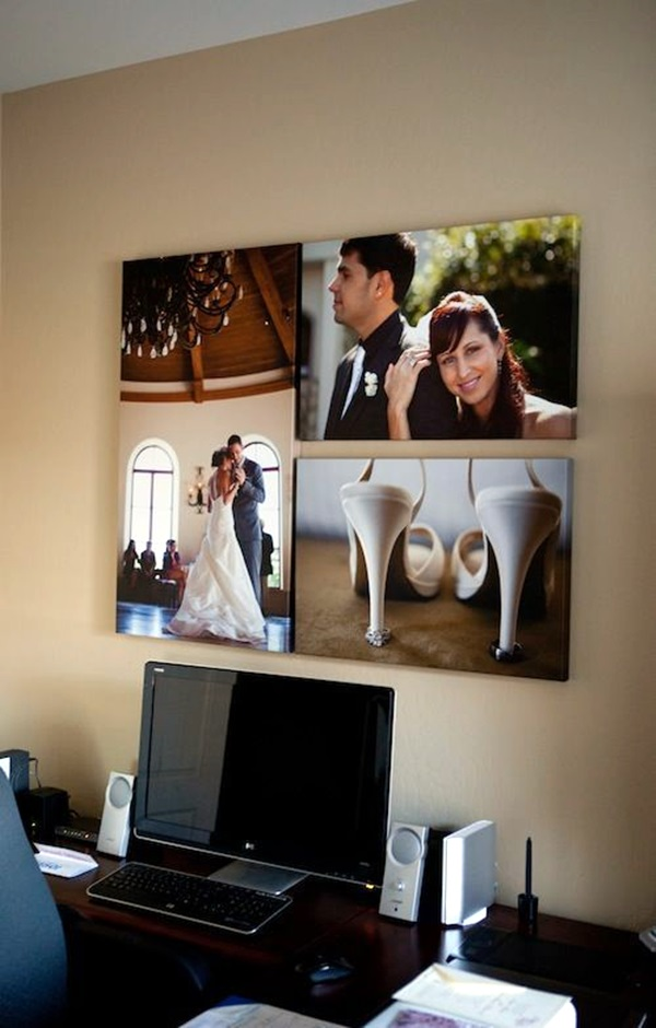 Unique wall photo display Ideas For You (36)