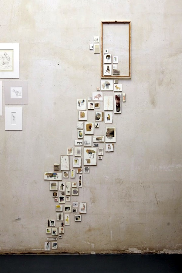 Unique wall photo display Ideas For You (42)