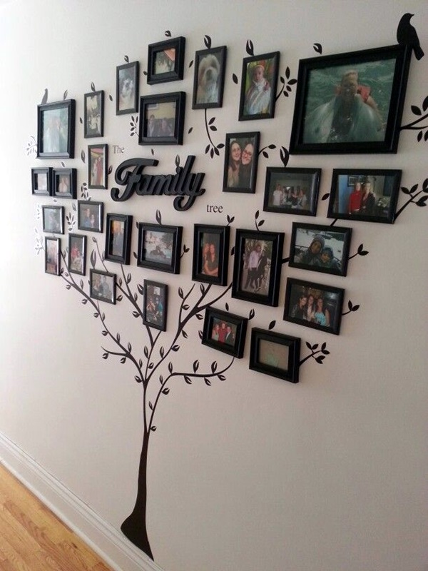 Unique wall photo display Ideas For You (5)