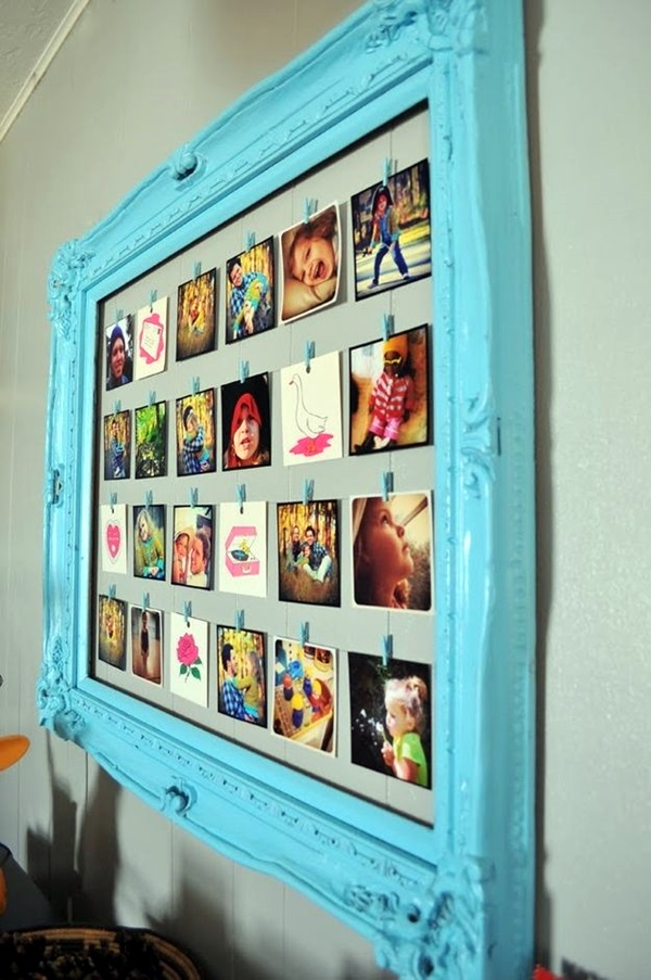 Unique wall photo display Ideas For You (6)