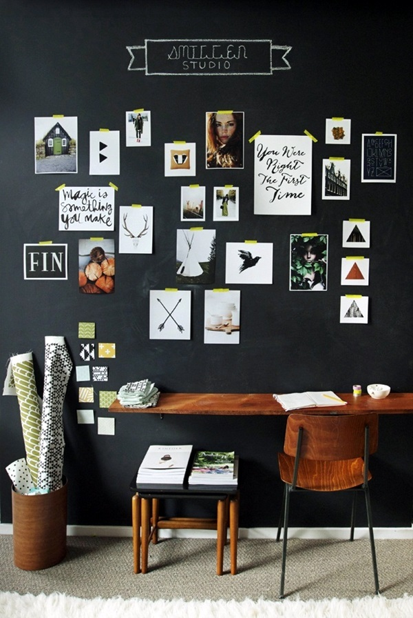 Unique wall photo display Ideas For You (9)