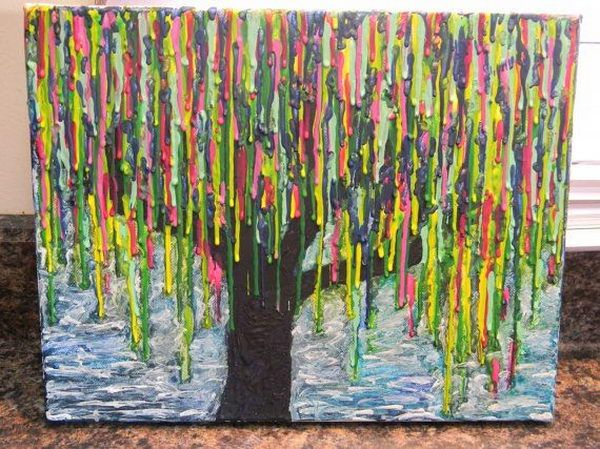 melted crayon art 10