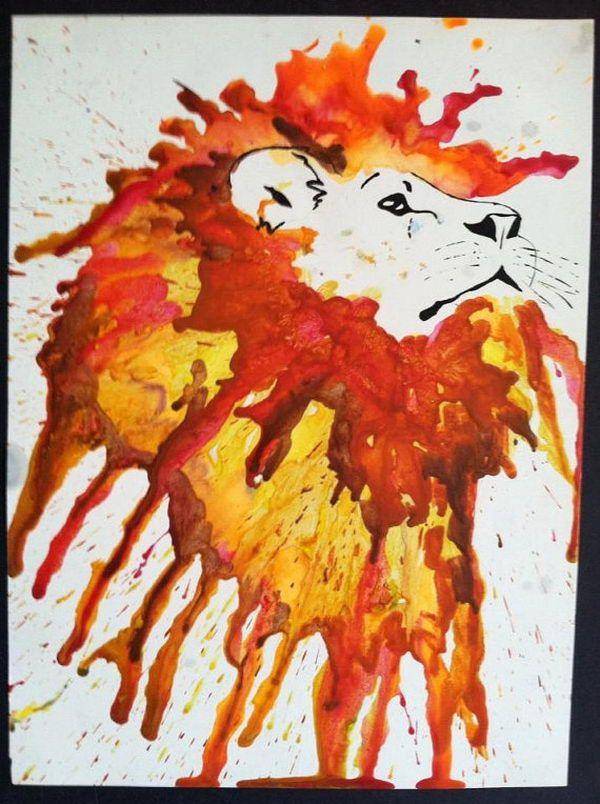 melted crayon art 27
