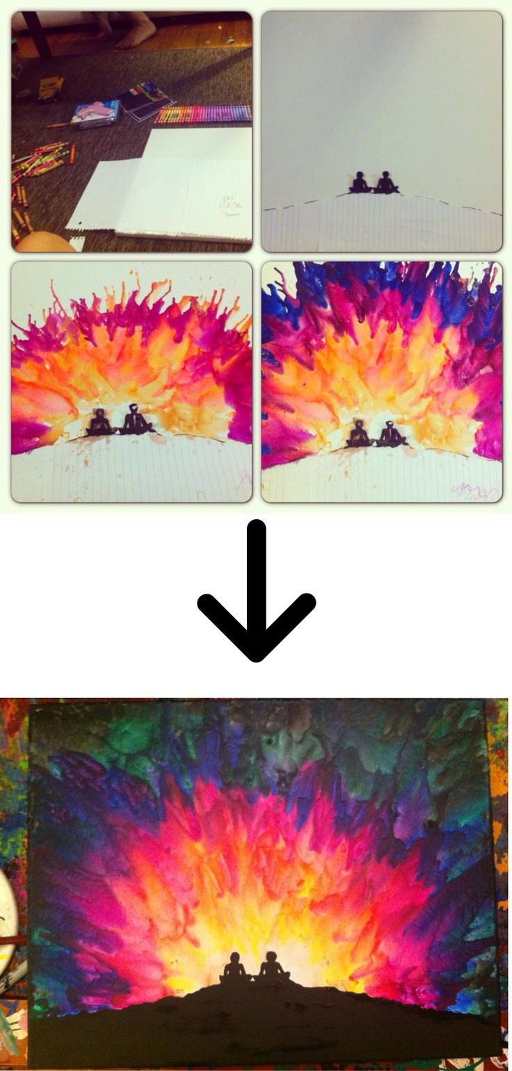melted crayon art 3