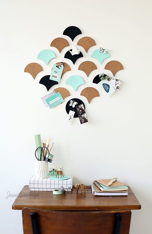 Cool and Inspirational pinboard wall Ideas (34)