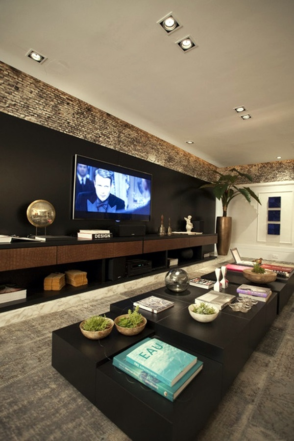 Unique Tv Wall Unit Setup Ideas (14)
